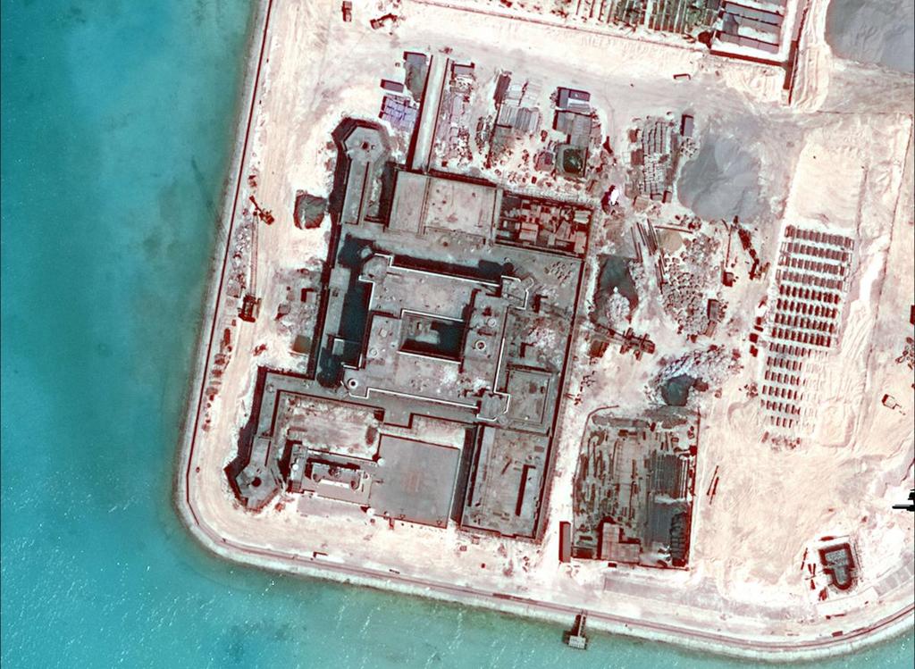 Tin biển Đông: Đá Gạc Ma thuộc quần đảo Trường Sa của Việt Nam bị Trung Quốc chiếm đóng và cải tạo trái phép.