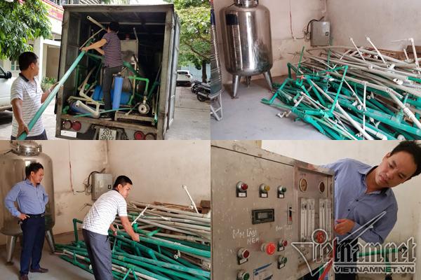 Lần lượt từng phần của hệ thống RO1 và RO2 được tìm thấy đưa về Viện Trang thiết bị và Công trình Y tế.
