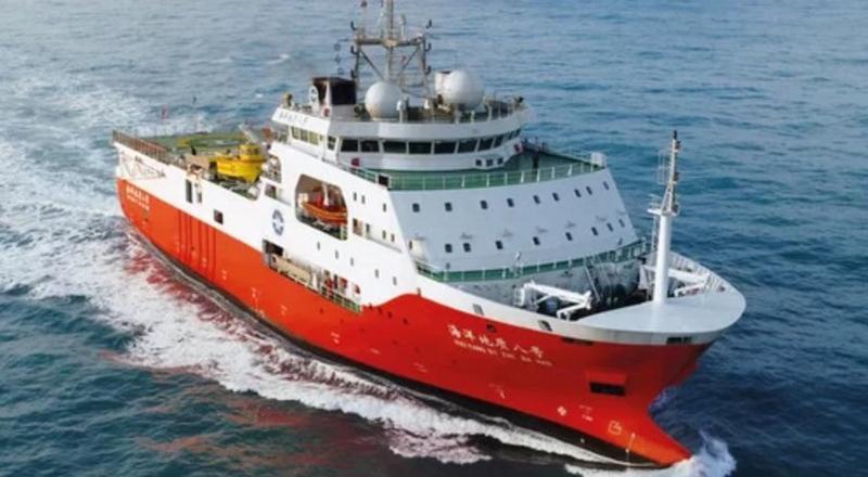 Tàu Địa chất Hải dương 8 hoạt động gần bờ biển Trung Quốc hồi năm 2018.