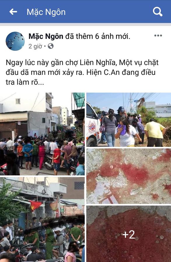 Facebook đã tung thông tin gây hiểu nhầm có vụ án mạng nghiêm trọng xảy ra trên địa bàn huyện Đức Trọng, tỉnh Lâm Đồng. (Ảnh qua tuoitre)