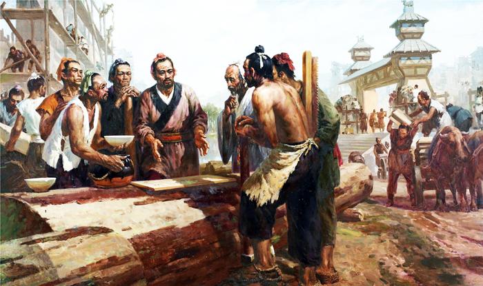 """Lỗ Ban được coi là tổ sử của ngành mộc, các thợ mộc ai cũng tôn kính ông, Lỗ Ban cũng là người rất tinh thông """"Dịch kinh""""."""