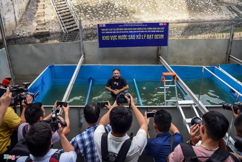 Khu vực thí điểm làm sạch sông Tô Lịch.