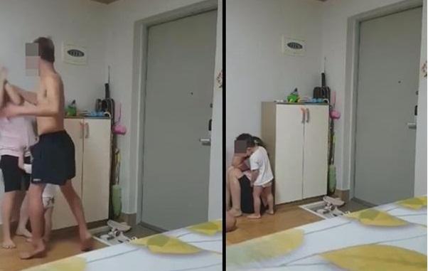 Người chồng Hàn đánh đập vợ Việt suốt 3 tiếng đồng hồ trước mặt đứa con nhỏ 2 tuổi. (Ảnh qua vtv)