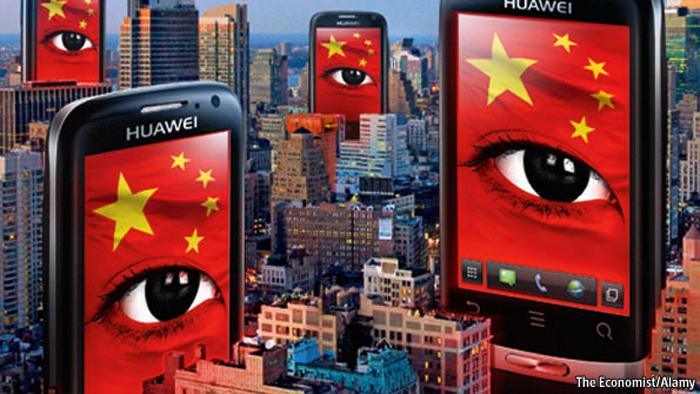 Huawei bị cáo buộc là cánh tay tình báo của quân đội Trung Quốc với mục tiêu do thám chính trị, quân sự, công nghiệp.