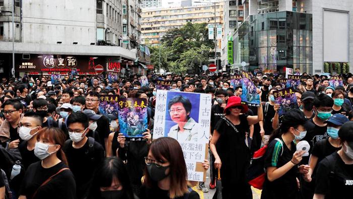 Cuộc tuần hành tại khu Mongkok, Hồng Kông, chống luật dẫn độ ngày 03/08/2019