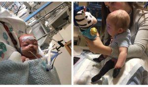 Sau 2 ngày viêm họng một bé trai 11 tháng bị rụng hết tay, chân
