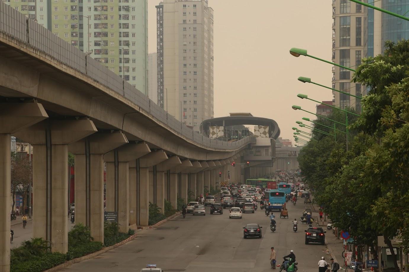 Tuyến đường sắt trên cao Cát Linh - Hà Đông chưa đi vào hoạt động.