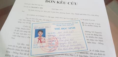 Đơn kêu cứu của gia đình ông Tín gửi tới các cơ quan chức năng sau cái chết của con trai.