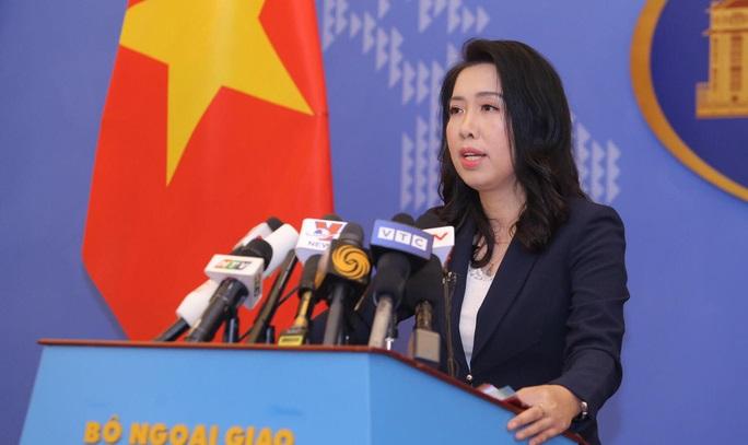 Người phát ngôn bộ ngoại giao Việt Nam Lê Thị Thu Hằng. (Ảnh qua nld)