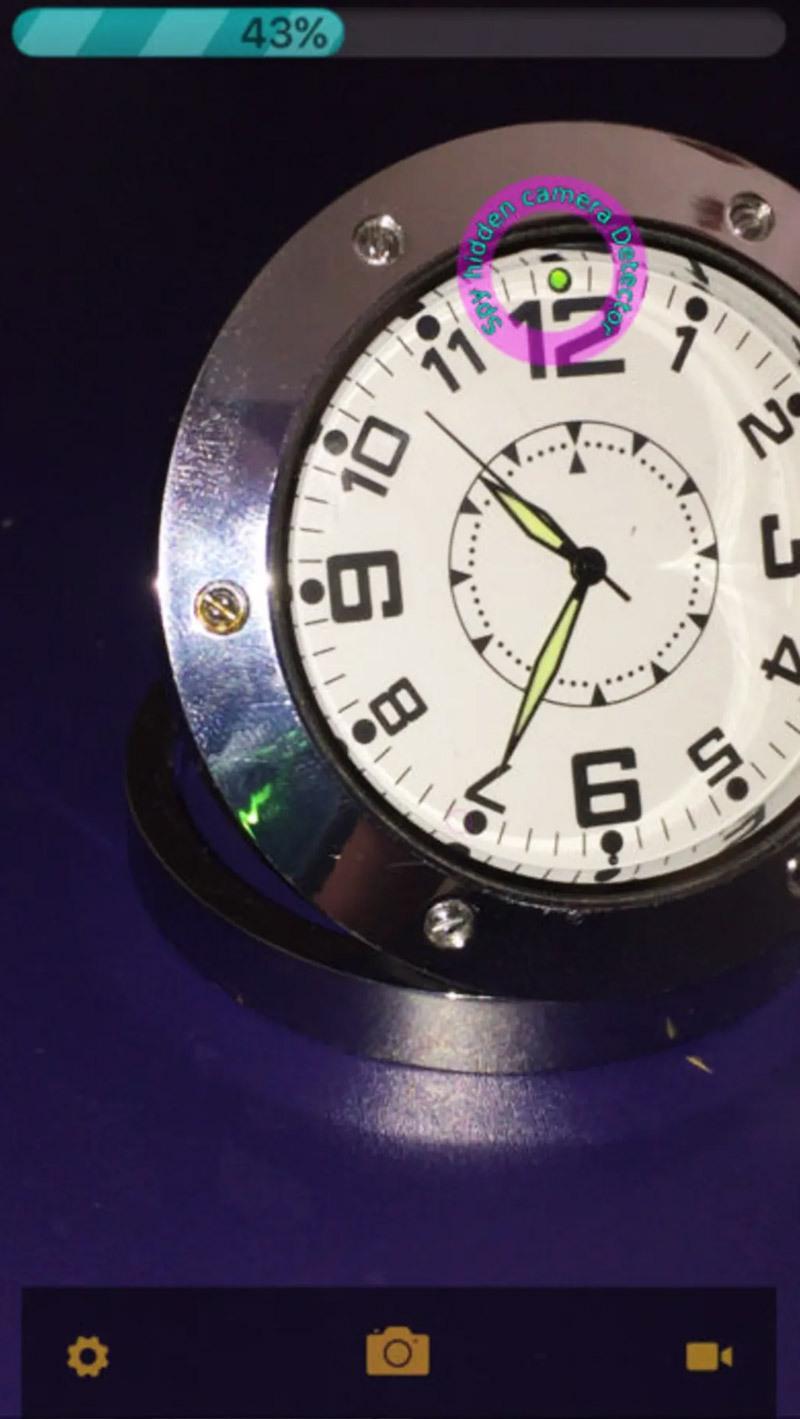 Camera được dấu trong chiếc đồng hồ