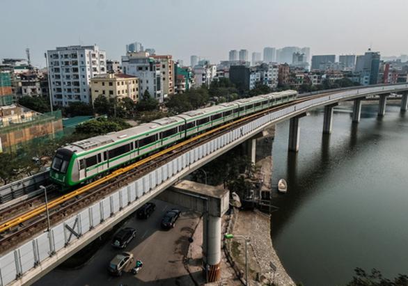 Dù đã chạy thử đoàn tàu nhưng đường sắt Cát Linh - Hà Đông vẫn dang dở, chưa hẹn ngày về đích. (Ảnh qua tuoitre)