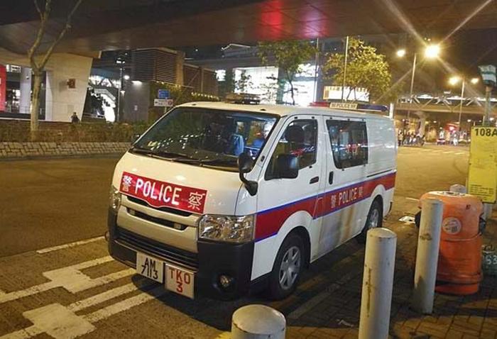 Dấu hiệu nhận dạng phía trước của AM7113 là TKO, cho thấy chiếc xe thuộc về Sở cảnh sát khu Tseung Kwan O.