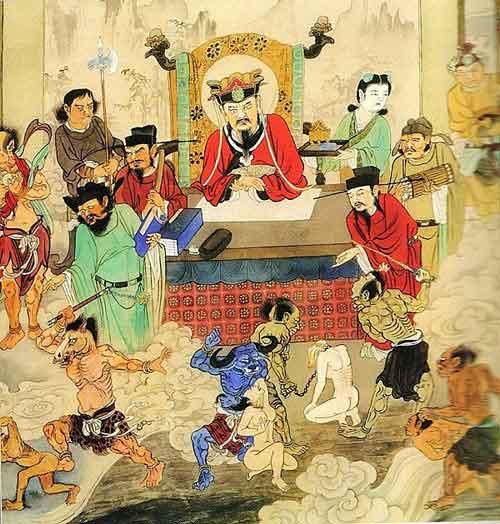 Hình ảnh Diêm Vương cai quản Quỷ Môn Quan. (Ảnh qua khoahoc)