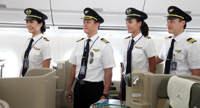 Phi hành đoàn của Vietnam Airlines.
