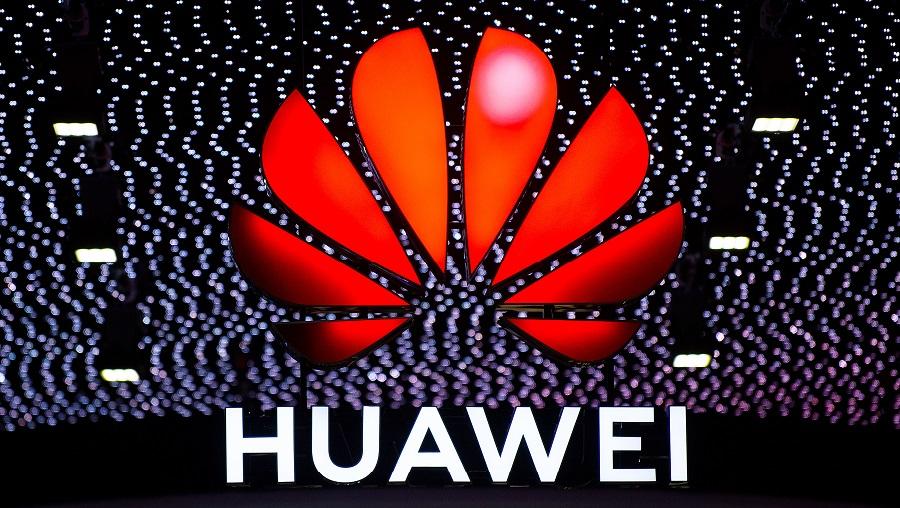 Logo gã khổng lồ công nghệ Trung Quốc Huawei. (Ảnh: David Ramos/Getty Images)