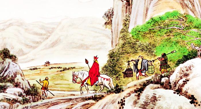 Từ Tiểu Tây Thiên đến Đại Tây Thiên cần phải đi qua một con đường đá nhỏ rất ô uế, chính là đại diện cho ma tính của người tu luyện.