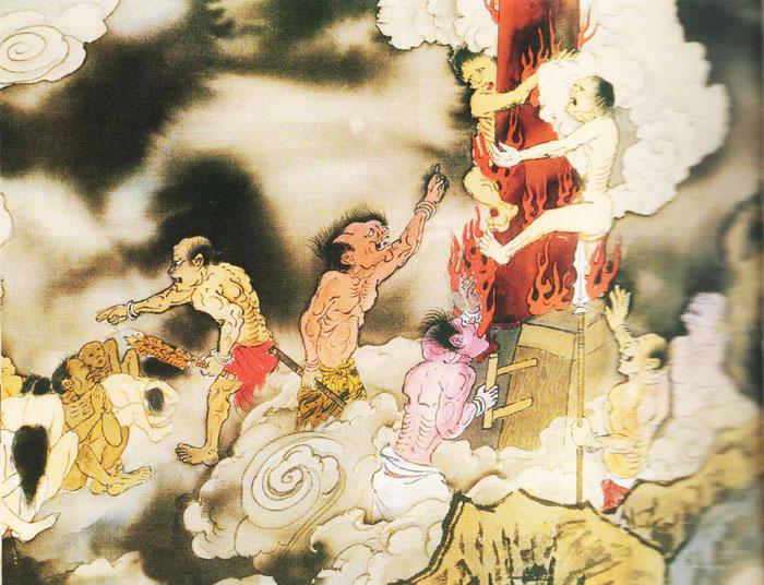 Bào lạc: Cực hình thời xưa, trói người chịu hình vào cột đồng, trong cột đồng đốt than nóng, người thụ hình sẽ bị đốt cháy da thịt đến chết