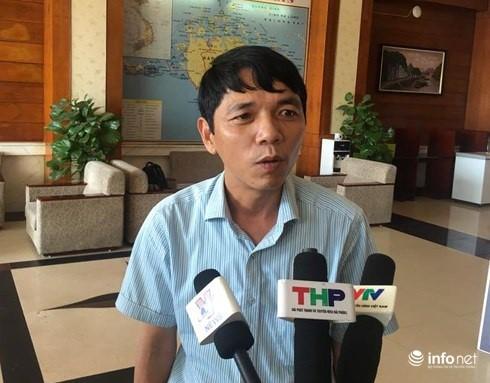 Ông Hoàng Trung Cường, Phó Chủ tịch UBND huyện Cát Hải.