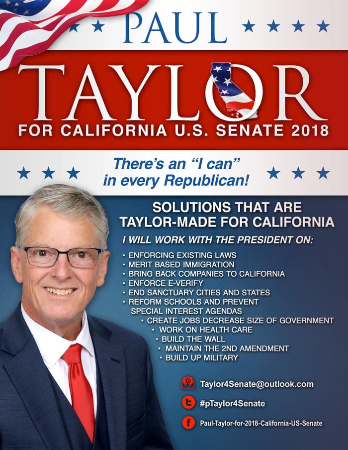 Ông Paul Taylor và chiến dịch tranh cử vào chức vụ Thượng nghị sĩ của bang California năm 2018.