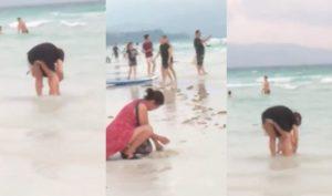 Philippines: Bãi biển đóng cửa sau khi phát hiện khách TQ chôn bỉm trẻ em xuống cát
