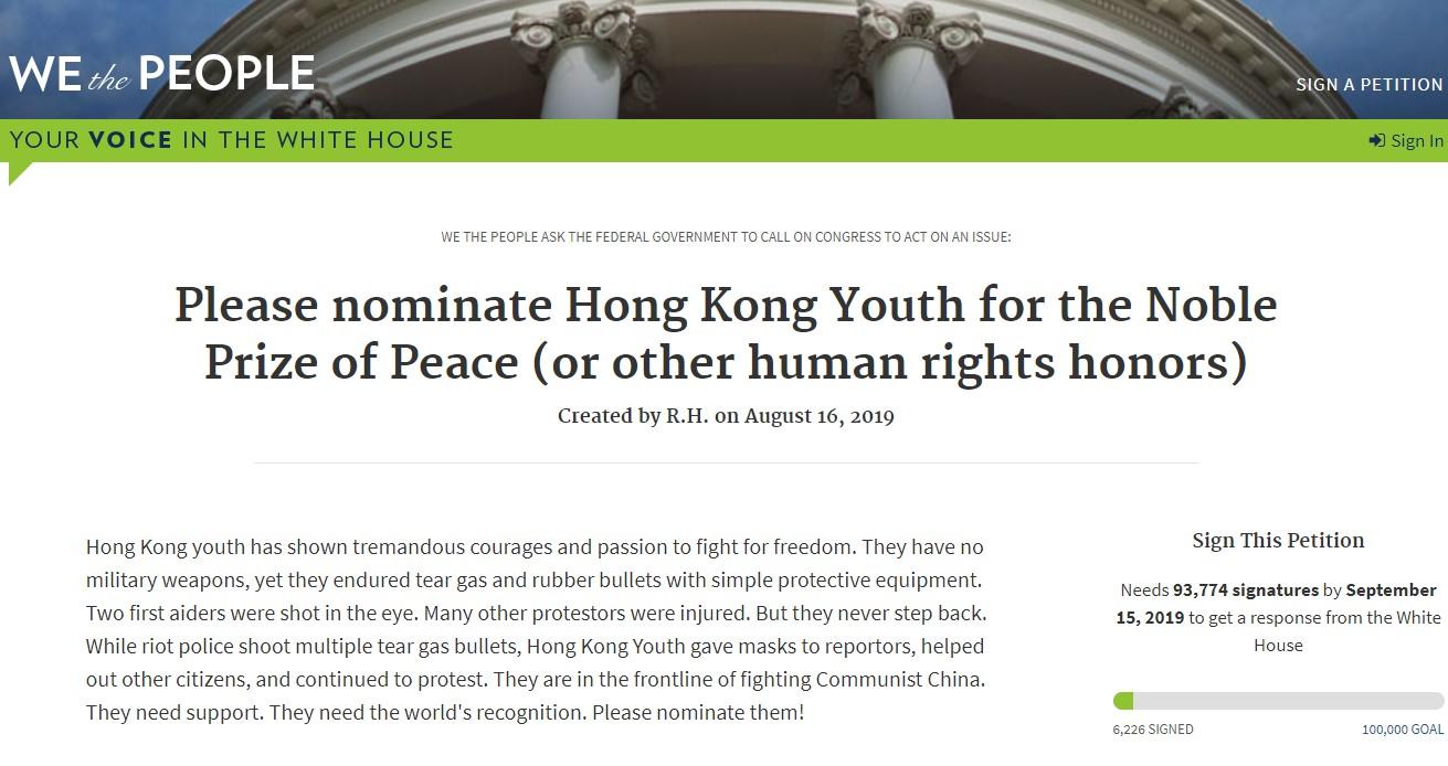 Công chúng kêu gọi đề cử giải Nobel Hòa Bình cho giới trẻ Hong Kong - ảnh 1