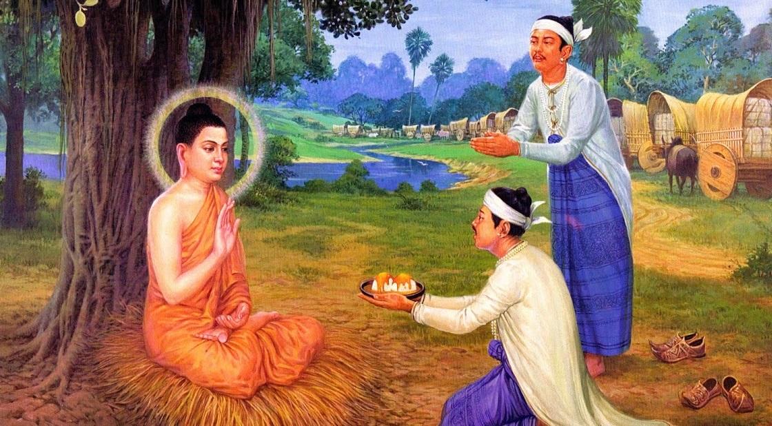 2 thương nhân cùng diện kiến đức Phật, vì sao người thành vua, người đoản mệnh mà chết