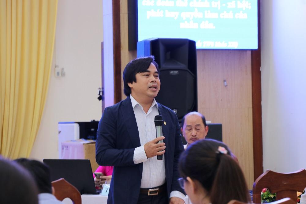 Giám đốc Sở TNMT TP.Đà Nẵng trả lời cử tri Đà Nẵng sáng 19/9.