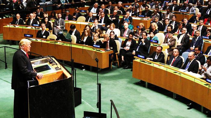 Trump phát biểu tại đại hội đồng liên hợp quốc vào ngày 24/9.