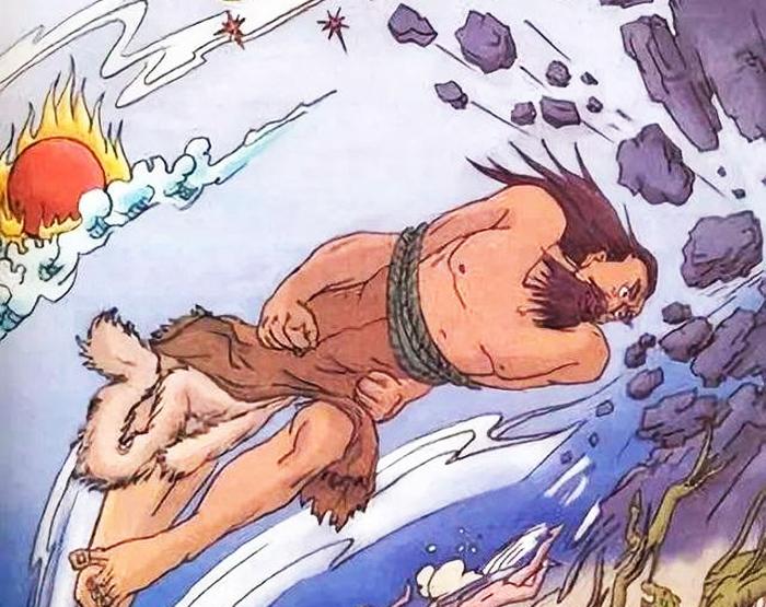 Cộng Công tranh ngôi vị của Chuyên Húc và bị đánh bại, trong lúc xấu hổ và tức giận, Cộng Công đập đầu vào núi Bất Chu, khiến núi Bất Chu bị gãy đổ.