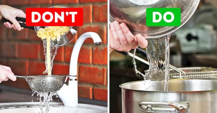 Hãy giữ một ít và thêm nó vào nước sốt mì ống của bạn. Tinh bột từ mì ống trong nước sẽ làm cho nước sốt của bạn mịn hơn.