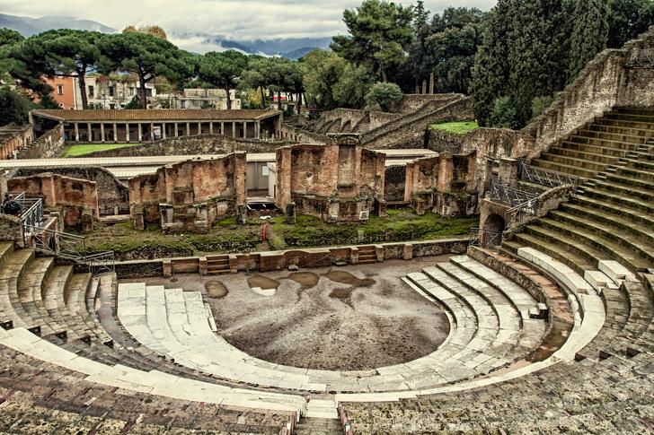 Pompeii được coi là một khu nghỉ mát cho những người giàu La Mã dành cho kỳ nghỉ của họ.