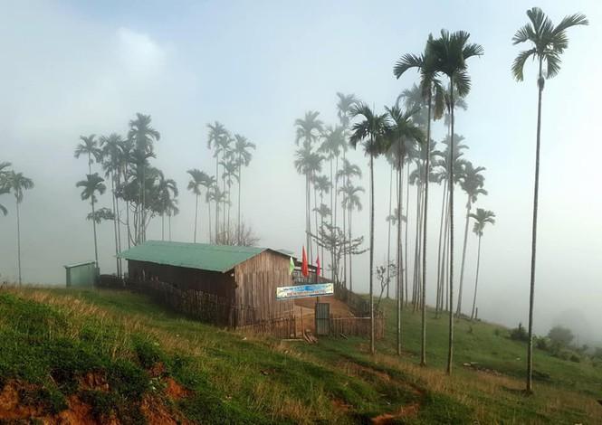 Ngôi trường nhỏ bé giữa ngọn đồi xanh. (Ảnh qua tuoitre)
