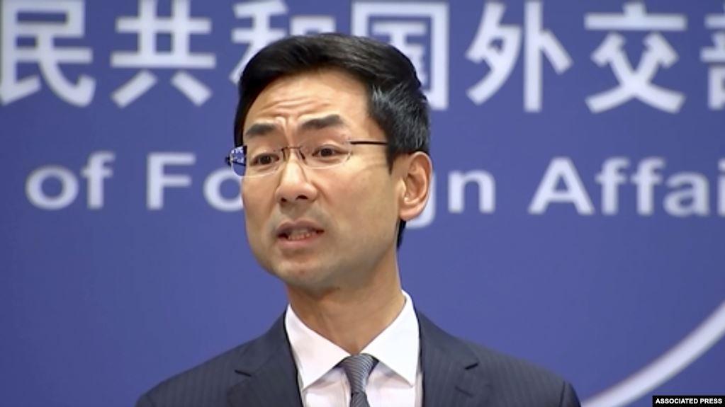 Phát ngôn nhân Bộ Ngoại giao Trung Quốc Cảnh Sảng. (Ảnh qua VOA)