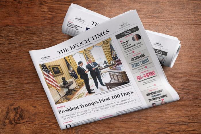 Ông Trump nói Epoch Times là tờ báo đáng tin cậy nhất. (Ảnh: theepochtimes.com)