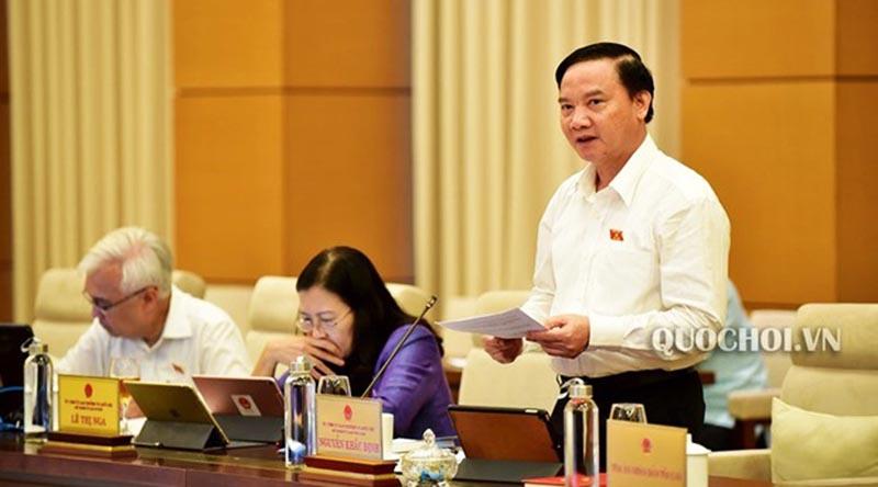 Chủ nhiệm Ủy ban Pháp luật Nguyễn Khắc Định. (Ảnh qua laodong)