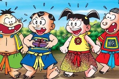 4 hình tượng nhân vật Trạng Dần Béo, Tí, Sửu Ẹo, Cả Mẹo trong truyện 'Thần đồng đất Việt' (Ảnh qua ipc)