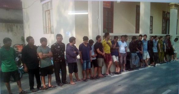 Các nghi phạm trộm chó vừa bị Phòng Cảnh sát hình sự Công an tỉnh Thanh Hóa bắt giữ ngày 15 và 16/9. (Ảnh qua tuoitre)