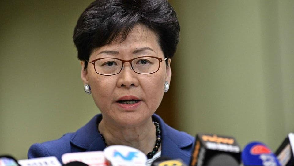 Trưởng đặc khu hành chính Hong Kong Lâm Trịnh Nguyệt Nga. (Ảnh: AFP)