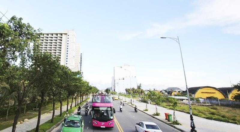 Đất nền khu vực đi ngang quan sân bay Nước Mặn (quận Ngũ Hành Sơn, TP Đà Nẵng). (Ảnh qua danviet)