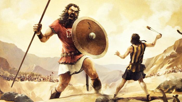 Cuộc chiến của David và Goliath là trận chiến kinh điển lấy yếu để thắng mạnh.