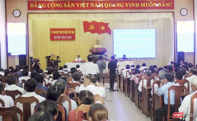 Buổi tiếp xúc cử tri huyện Hòa Vang của Đoàn ĐBQH TP Đà Nẵng diễn ra sáng nay 19/9.