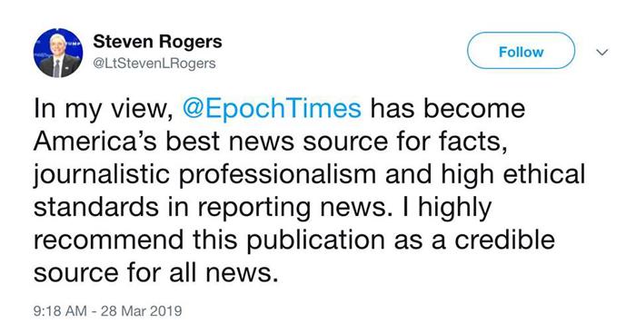Dòng Twitter của ông Steven Rogers lúc 9:18 sáng ngày 28/3/2019