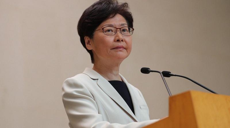 Trưởng đặc khu Hong Kong, bà Lâm Trịnh Nguyệt Nga. (Ảnh qua South China Morning Post)