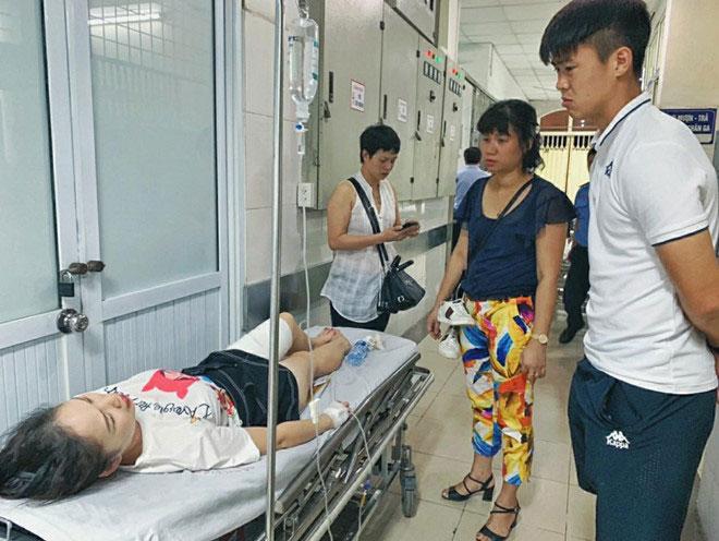 Chị Huyền Anh ở bệnh viện Xanh Pôn