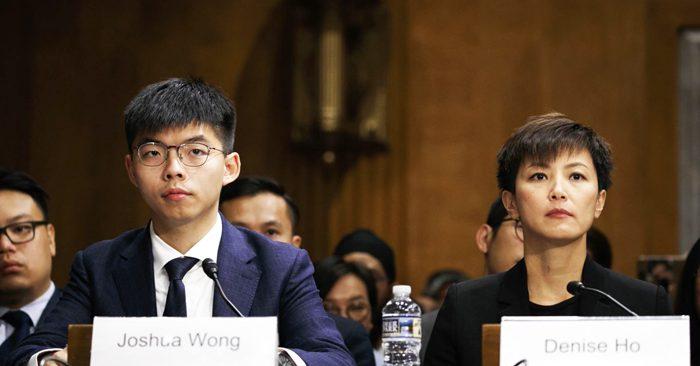 Hoàng Chi Phong, Hà Vận Thi điều trần trước Quốc hội Mỹ, kêu gọi thông qua dự luật Hồng Kông