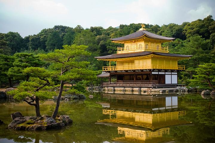 Kim Các Tự, hay còn gọi là chùa Gác Vàng ở Kyoto, Nhật Bản. (Ảnh qua neptun.ru)
