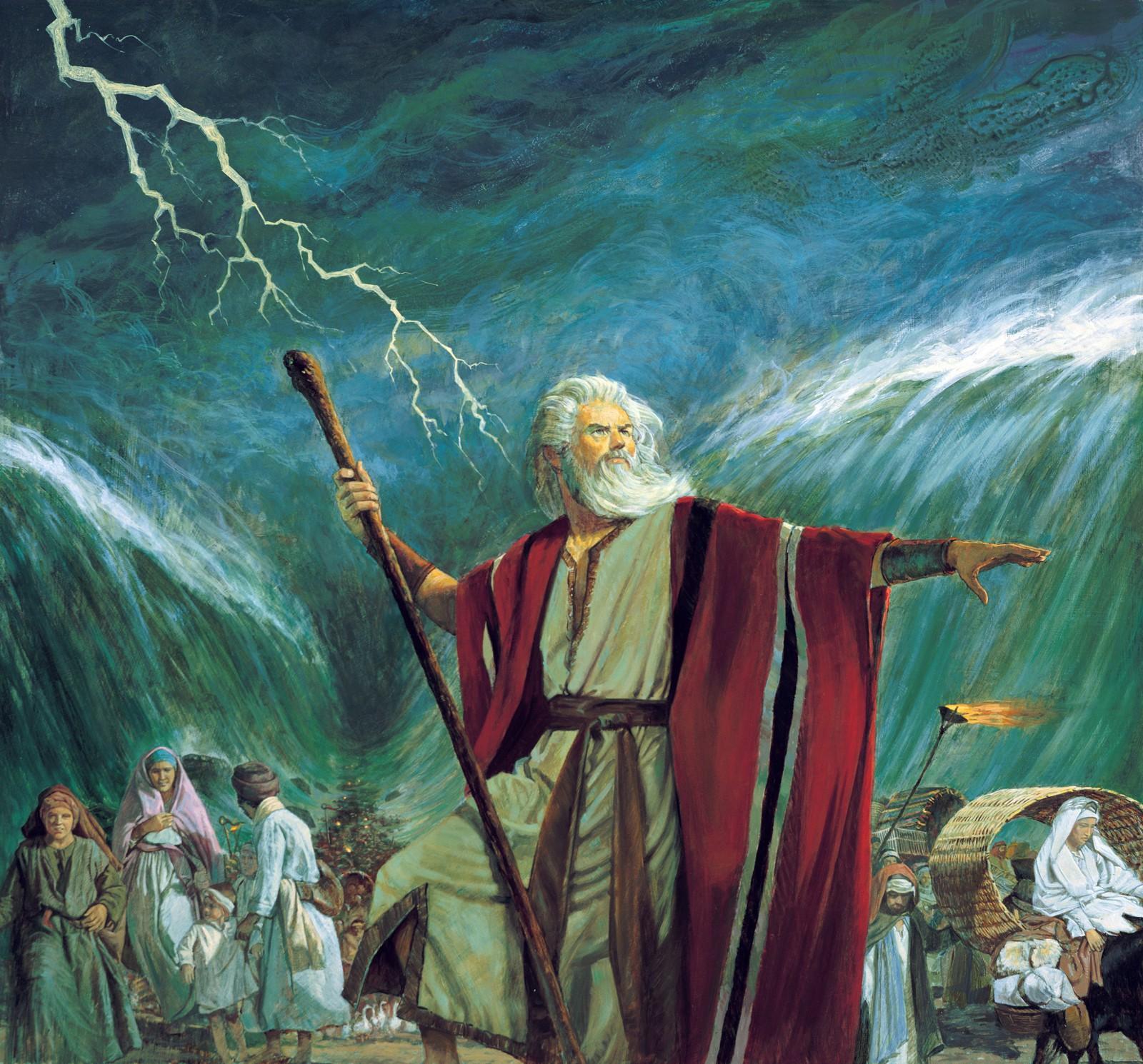 """Truyền thuyết về """"Phép màu của Moses""""."""