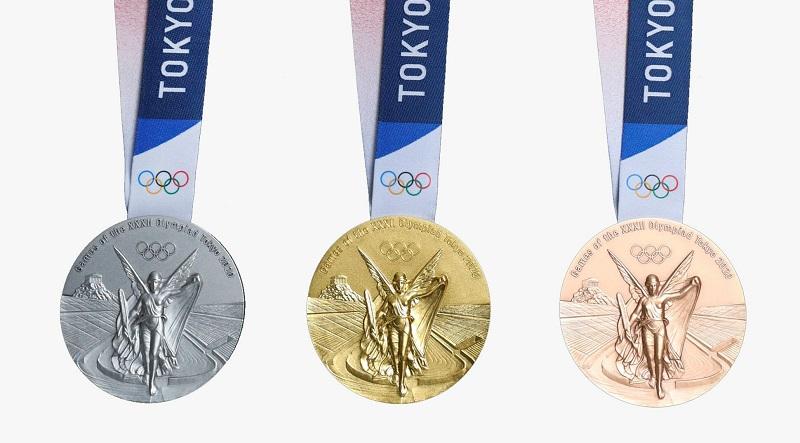 Các mẫu huy chương Tokyo 2020 được công bố ngày 24/7 vừa qua. (Ảnh qua Gear Patrol)