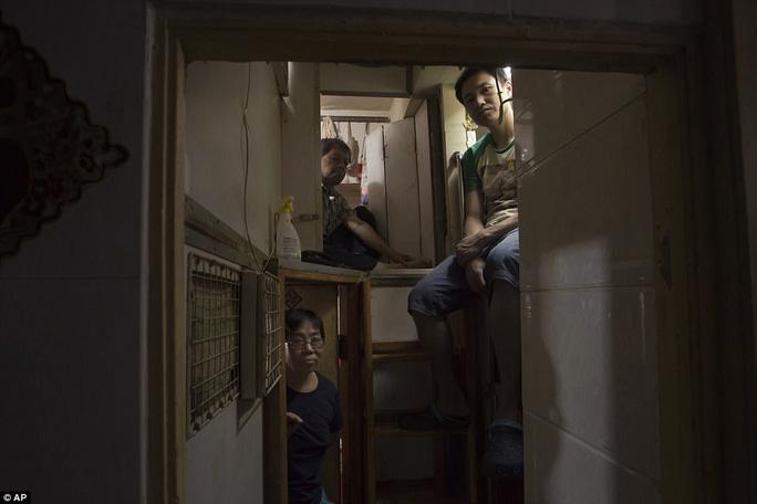 Những căn hộ được chia thành từng phòng nhỏ và họ phải sống nhồi nhét trong một căn phòng chật hẹp.