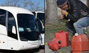 Đi trộm xăng xe bus, không ngờ hút trúng phải bồn phân